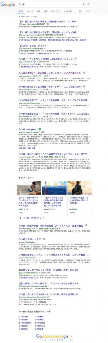 うつ病 - Google 検索